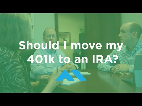 Should I move my 401k to an IRA?