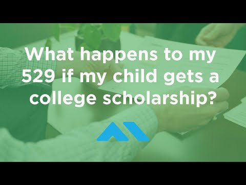 What happens to my 529 if my child gets a college scholarship?