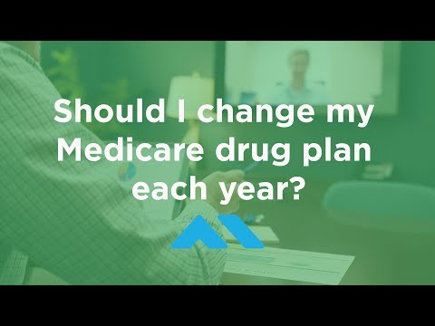 Should I Change My Medicare Drug Plan Each Year?