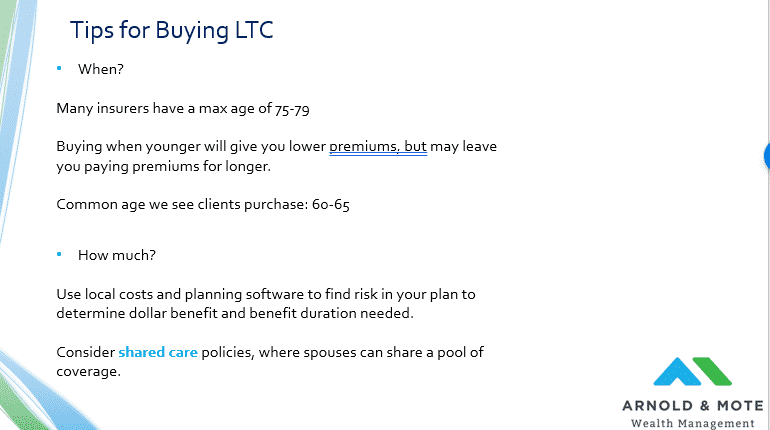 tips for buying long term care insurance