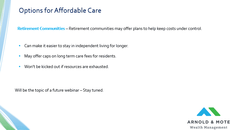options for more affordable long term care