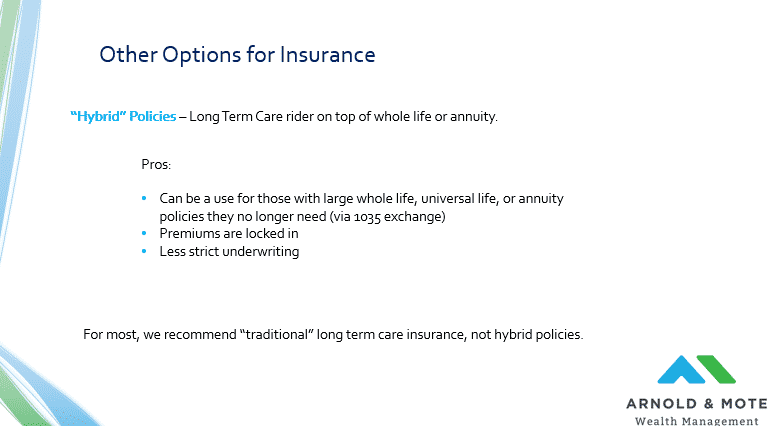 benefit of hybrid LTCi policy