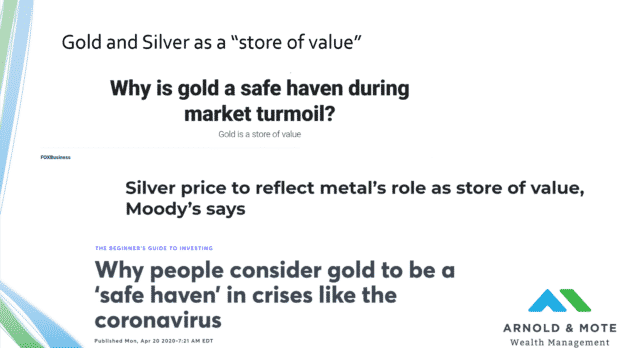 gold as a store of value media coverage