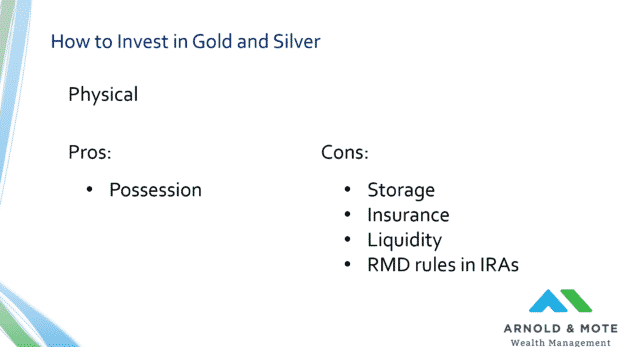 how to invest in gold and silver physical