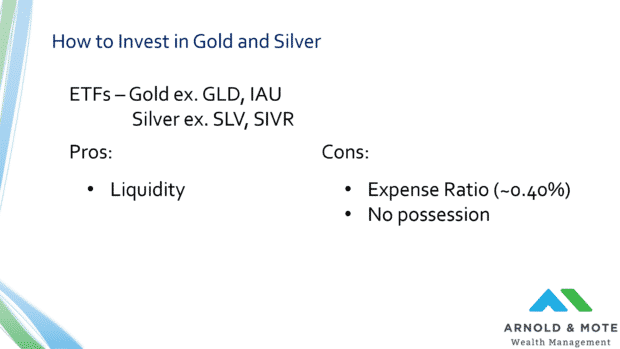 how to invest in gold and silver etfs